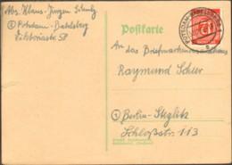 Alli.Bes.12 Pfg.Ziffer Auf Postkarte V.1946 Aus Potsdam-Babelsberg - American,British And Russian Zone