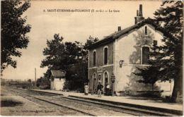 CPA St-ETIENNE-de-TULMONT La Gare TRAM VAPEUR (977489) - Saint Etienne De Tulmont