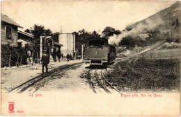 CPA PUGNY Pres AIX-les-BAINS La Gare TRAM VAPEUR (977559) - Autres Communes