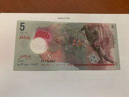Maldives 5 Rufiyaa Uncirc. Polymer Banknote 2017 #3 - Maldives