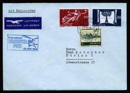 A6741) Schweiz Brief Von Helicopter-Flug Zürich 23.09.48 - Covers & Documents