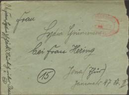 SBZ Fernbrief  Von 1945 Aus Plauen (Vogtl) 1 Mit Gebühr Bezahlt Stempel Öffnungsmängel - Soviet Zone