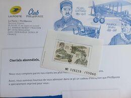 Bloc Feuillet Numéroté Timbre Aéropostal Boyau/Coiffard - Club Phil@poste - N° 026229 Sur 55 060 - NEUF - Blocs & Feuillets