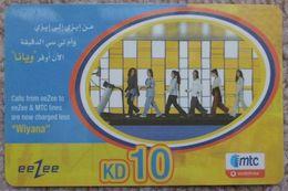 """KUWAIT - 10 KD - Mtc Eezee  """"Wiyana"""" - Kuwait"""
