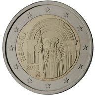 Spanje 2018. 2 Euro Santiago De Compastella. UNC Uit De Rol, Niet Gelopen - Spanje