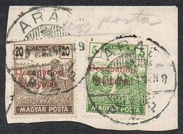 HONGRIE N°6 Et 10 SUR FRAGMENT - Ungarn (1919)
