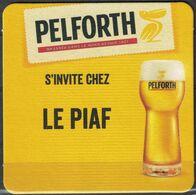France SB Sous Bock Beermat Beer Coaster Pelforth S'invite Chez Le Piaf Bistrot à Metz - Bierdeckel