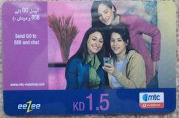 KUWAIT - 1.5 KD - Eezee Mtc Vodafone - Kuwait