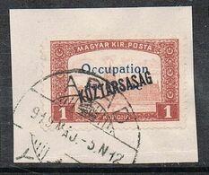 HONGRIE N°37 SUR FRAGMENT - Ungarn (1919)