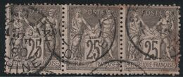 SAGE - N°97 BANDE DE 3 - CACHET - SHANGHAI - CHINE - FORTE COTE - 1877-1920: Periodo Semi Moderno