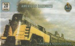 REINO UNIDO. Steam Locomotive Chicago & North Western - UT 0204. F-UK-UNI-AR-0204. (059) - Eisenbahnen
