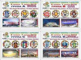 UKRAINE / Private Issue / Vignettes / POLAND. Football Soccer. UEFA. EURO 2012. National Teams. Stadiums. 2010 - Fußball-Europameisterschaft (UEFA)