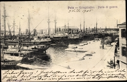 Cp Pola Pula Kroatien, Kriegshafen, Kuk Kriegsmarine - Croatia