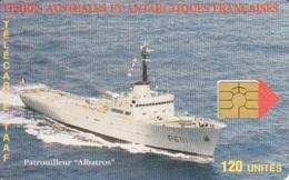 Télécarte 120U, Tirage 750, Patrouilleur Albatros (puce GEM 4) - TAAF - Terres Australes Antarctiques Françaises