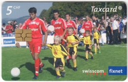SWITZERLAND C-204 Chip Swisscom - Sport, Soccer - Used - Svizzera