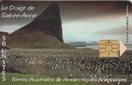Télécarte 50U, Tirage 1500, Le Doigt De Sainte Anne - TAAF - Terres Australes Antarctiques Françaises