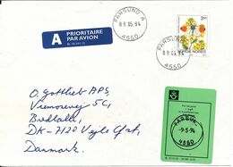 Norway Cover Underpaid Sent To Denmark Farsund 9-5-1994 - Norwegen