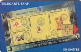 Télécarte 50U, Tirage 1500, Philex-France 99 (Variété Couleur Verdâtre) - TAAF - Terres Australes Antarctiques Françaises