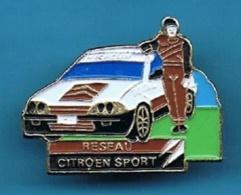 PIN'S //   ** RÉSEAU CITROËN SPORT / TOTAL / MICHELIN ** . (Yoshinori) - Citroën