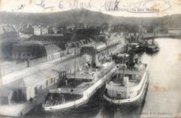 50 Cherbourg La Gare Maritime - Bateaux à Quai 1917 - Cherbourg