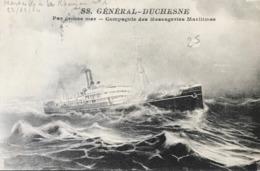 Paquebot Général Duchesne Compagnie Des Messageries Maritimes - Par Grosse Mer - Steamers