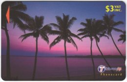 FIJI A-152 Magnetic Telecom - Landscape, Coast, Sunset - 30FJB - Used - Figi