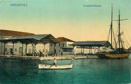 ARGOSTOLI - GRECE - CUSTOM HOUSE - ECRITE EN 1916. - Grecia