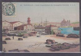 CPA Marseille Dpt 13 Quais D' Appontement Des Messageries Maritimes 2156 - Joliette, Hafenzone