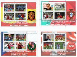 UKRAINE / Private Issue / Vignettes / POLAND. Football Soccer. UEFA. EURO 2012. National Teams. 2012 - Fußball-Europameisterschaft (UEFA)