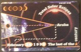 Telefonkarte Aruba - Total Solar Eclipse - 9/98 - Aruba