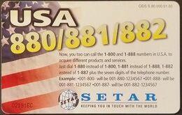 Telefonkarte Aruba - Werbung - USA - 01.00 - Aruba