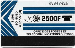 Togo - OPTT (Autelca) - Logo 2500 (Dark Blue), 1990, 2.500Units, 10.000ex, Used - Togo