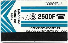 Togo - OPTT (Autelca) - Logo 2500 (Light Blue), 1991, 2.500Units, Used - Togo