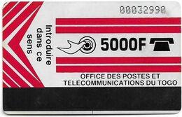 Togo - OPTT (Autelca) - Logo 5000 (Light Red), 1991, 5.000Units, Used - Togo