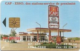 Togo - OPTT (Chip) - Cap Esso, Gem1A Symmetr. Black, 100Units, Used - Togo