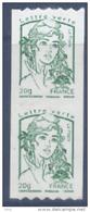 N° 862 Marianne Adhésif Roulette Verte Année 2013, Valeur Faciale Lettre Verte X2 - France
