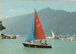 73. AIX LES BAINS. LAC DU BOURGET. RARETE. REGATES AU GRAND PORT. ANNEE 1976 + TEXTE - Aix Les Bains
