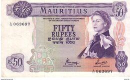 Mauritius  P.33c 50 Rupees 1967 Au+ - Mauritius