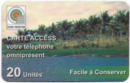 Togo - Togo Telecom - Palm Trees, Remote Mem. 20Units, Used - Togo