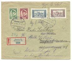 Troppau Opava R-Brief 1935 Nach Erfurt Weiter Nach Halle - Briefe U. Dokumente