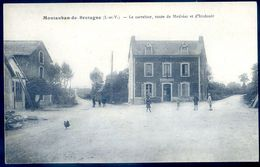 Cpa Du 35  Montauban De Bretagne Le Carrefour , Route De Médréac Et Irodouër   AVR20-177 - Sonstige Gemeinden