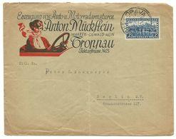 "Troppau Opava Firmen-Brief ""Auto- & Motorradarmaturen"" Mit Illustration Um 1930 Nach Berlin - Tsjechoslowakije"