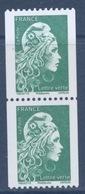 N° 5255 Marianne D'Yz Valeur  Faciale Lettre Verte Roulette Gommé X 2 - Unused Stamps