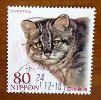 2011 GIAPPONE Felini Gatti Amur Leopard Cat (Prionailurus Bengalensis Euptilurus) - 80 Y Usato - 1989-... Imperatore Akihito (Periodo Heisei)