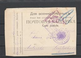 EX-PR-20-07-87 POST CARD SEND FROM DAURIA STATION (SIBIR) VIA IRKUTSK (WAR CENZOR # 6) TO AUSTRIA. - Covers & Documents