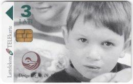 LATVIA A-121 Chip Lattelkom - People, Child - Used - Lettland