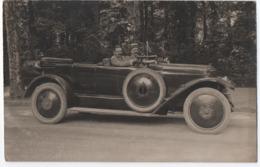 CARTE PHOTO : VOITURE ( MARQUE A DETERMINER ) : SELVE ? TORPEDO ? - ECRITE 1926 - AUTOMOBILE - KLAXON - 2 SCANS - - Voitures De Tourisme