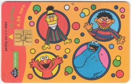 NETHERLANDS B-672 Chip PTT - Cartoon, Sesam Street - Used - Pays-Bas