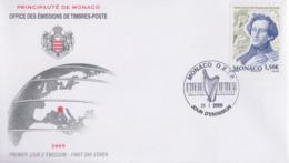 Enveloppe  FDC   1er  Jour   MONACO     Félix  MENDELSSOHN   2009 - Muziek
