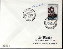 LETTRE 1ER JOUR 1957 - LA VILLE DE BEYNAC CAZENAC SUR SON PITON ROCHEUX - SIGNEE PAR LE GRAVEUR CHARLES MAZELIN - - Andere